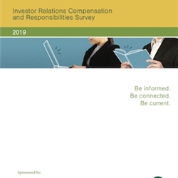 2019 Investor Relations Compensation and Responsibilities Survey