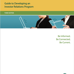 Guide to Developing an Investor Relations Program, Third Edition (Print Copy)